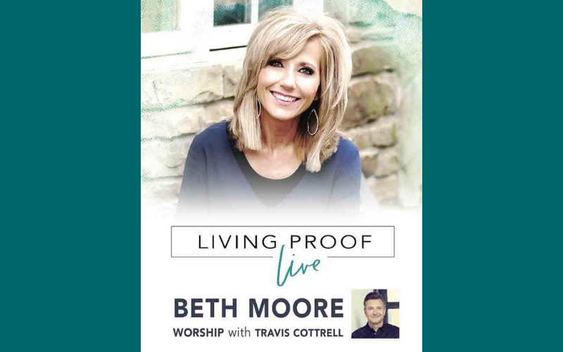 """Beth Moore's Conference """"Living Proof Live"""" is coming to the Cox Convention Center on October 11-12. This will be an exciting opportunity for the ladies of First Church to attend! For a group of 10 or more, the cost is $59. Penny Anderson will begin collecting money each Sunday until September 1st so that we can receive our wristbands to attend the conference. We are planning to meet at First Church both days and ride the streetcar down to the Cox Convention Center. This event should be a lot of fun and it will be a chance for the ladies of First Church to hear this wonderful speaker in person!"""