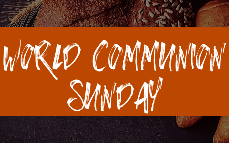 World Communion Sunday is this Sunday, October 6, 2019. Everyone is invited to wear clothing or jewelry from other countries. We're also looking for people to bake different kinds of bread for communion. If you're interested please contact Nina Lipe or Morgan Kennedy.