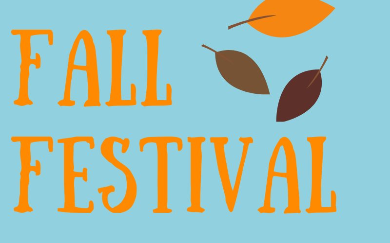 The Fall Festival will be on Wednesday, October 30th from 6:00 pm - 7:30 pm. It will be held downstairs on the 1st Floor in the Children's Area. There will be dinner, games, prizes, and more!