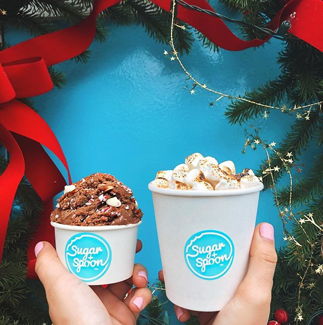 🚨 NEW FLAVOR ALERT 🚨 It's the sweetest time of the year, introducing our December features: Peppermint Bark dough and Nutella Hot Chocolate topped with toasted marshmallow! Tag your friend with a sweetest tooth 😋