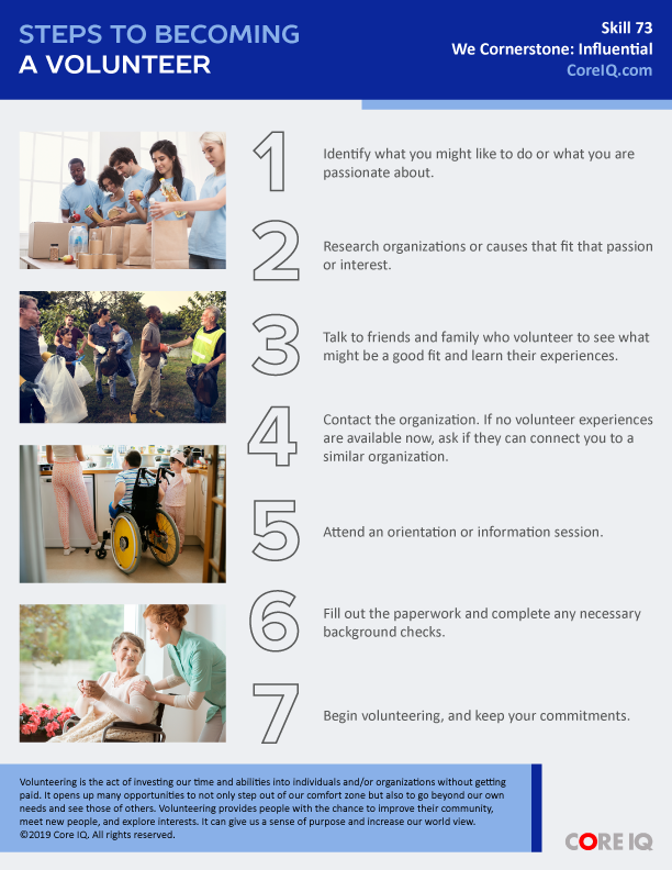 Skill 73: Steps to Becoming a Volunteer