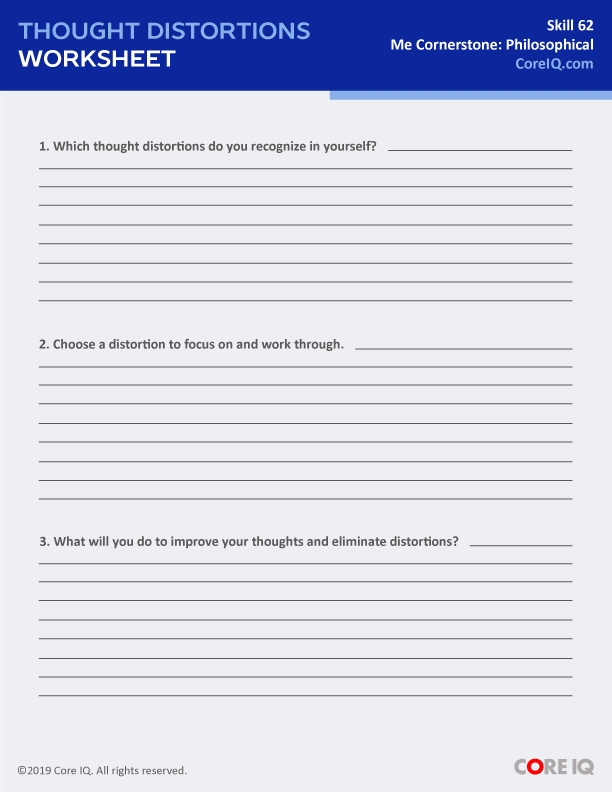 THOUGHT DISTORTIONS WORKSHEET