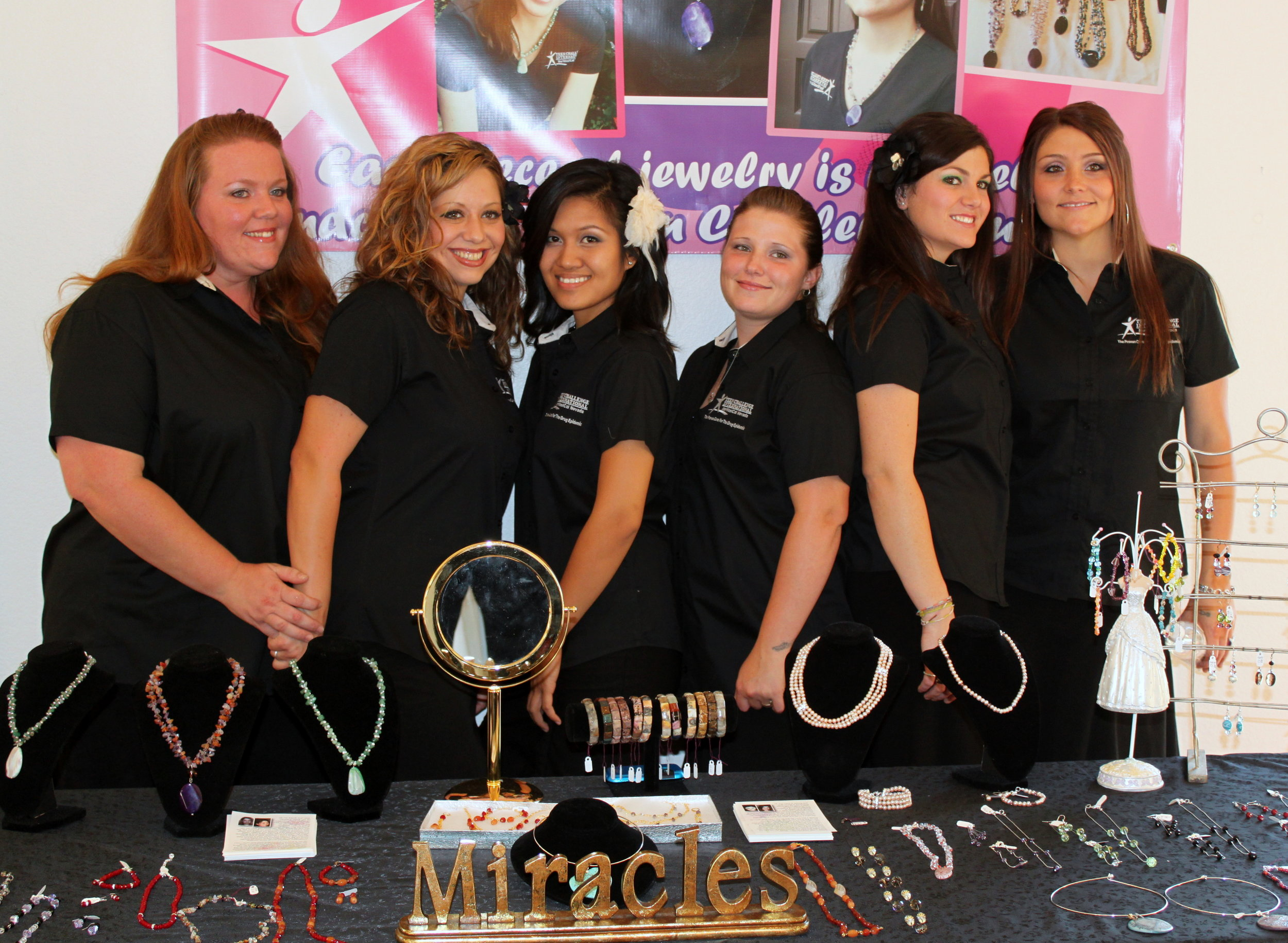 Teen Challenge NorCalWest Nevada ladies create jewelry to help benefit the mission of recovery.