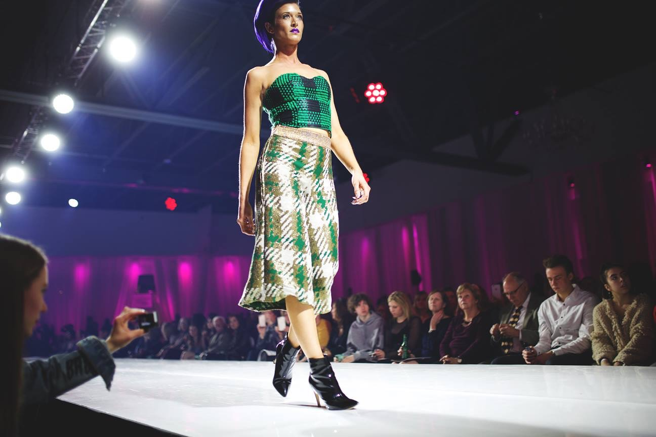 Front Row Seats at Omaha Fashion Week (PC: Dylan Tinnerstet; Designer: Hannah Jensen)