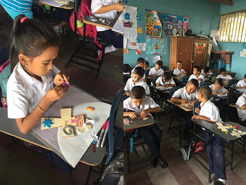 You Are Special; God Made You That Way! Bible School at the Presbyterian Church, attended by 85 children included stories, crafts, prayer and singing. We also worshipped there on Sunday. Our education team taught Bible lessons and led craft projects in seven classrooms for over 200 children.
