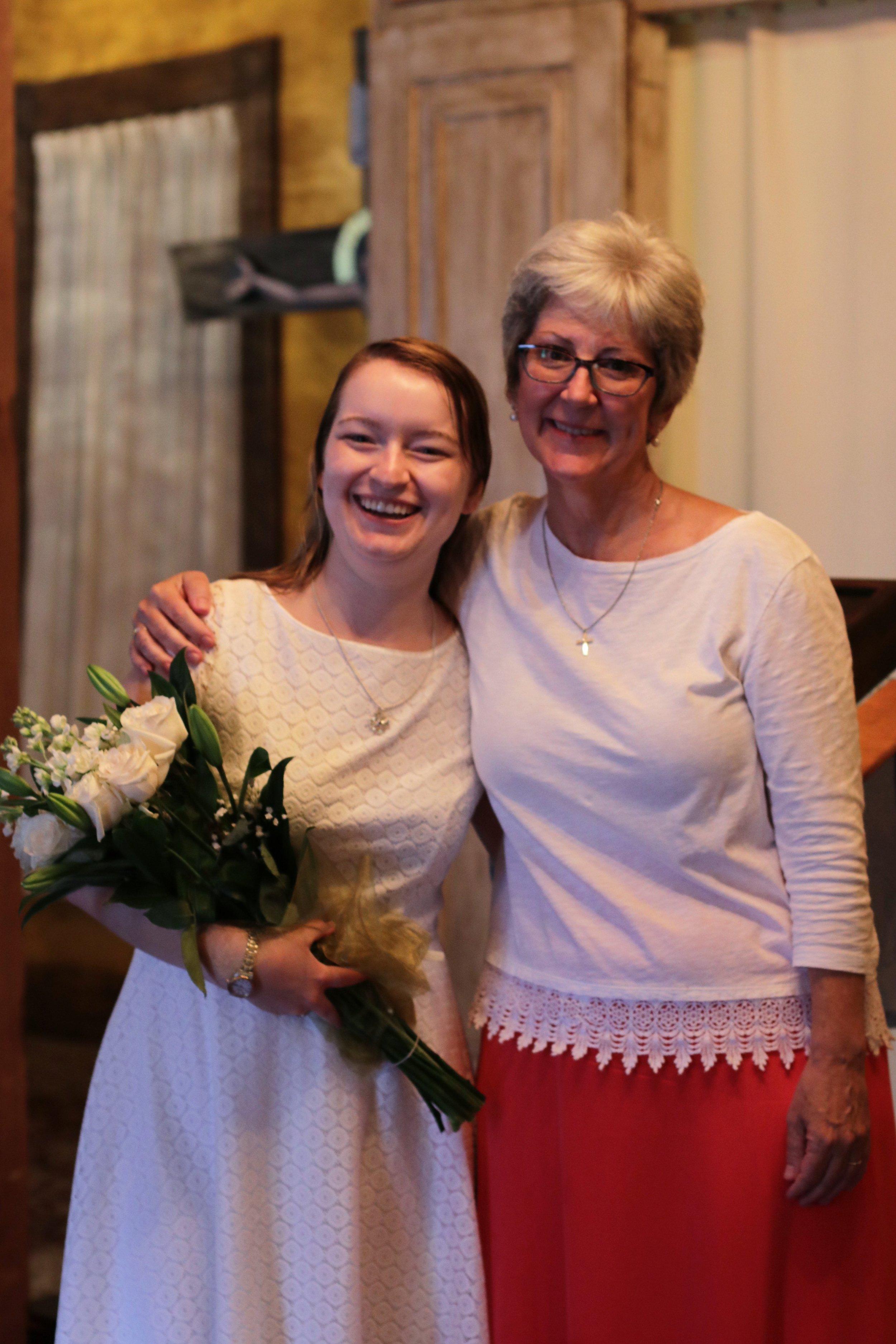 Isabelle after her baptism in 2018