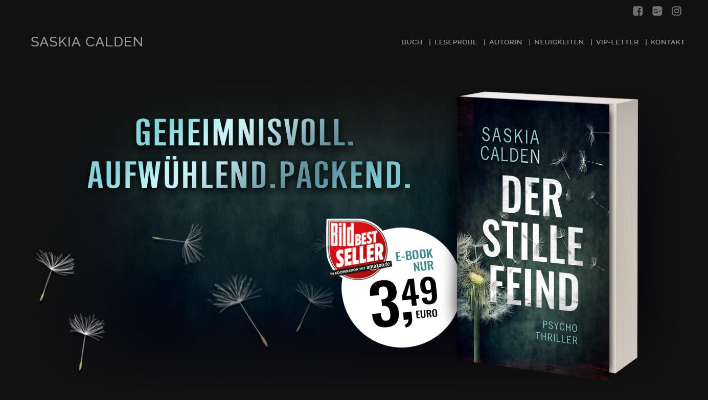 Autorenseite Thriller-Autorin Saskia Calden