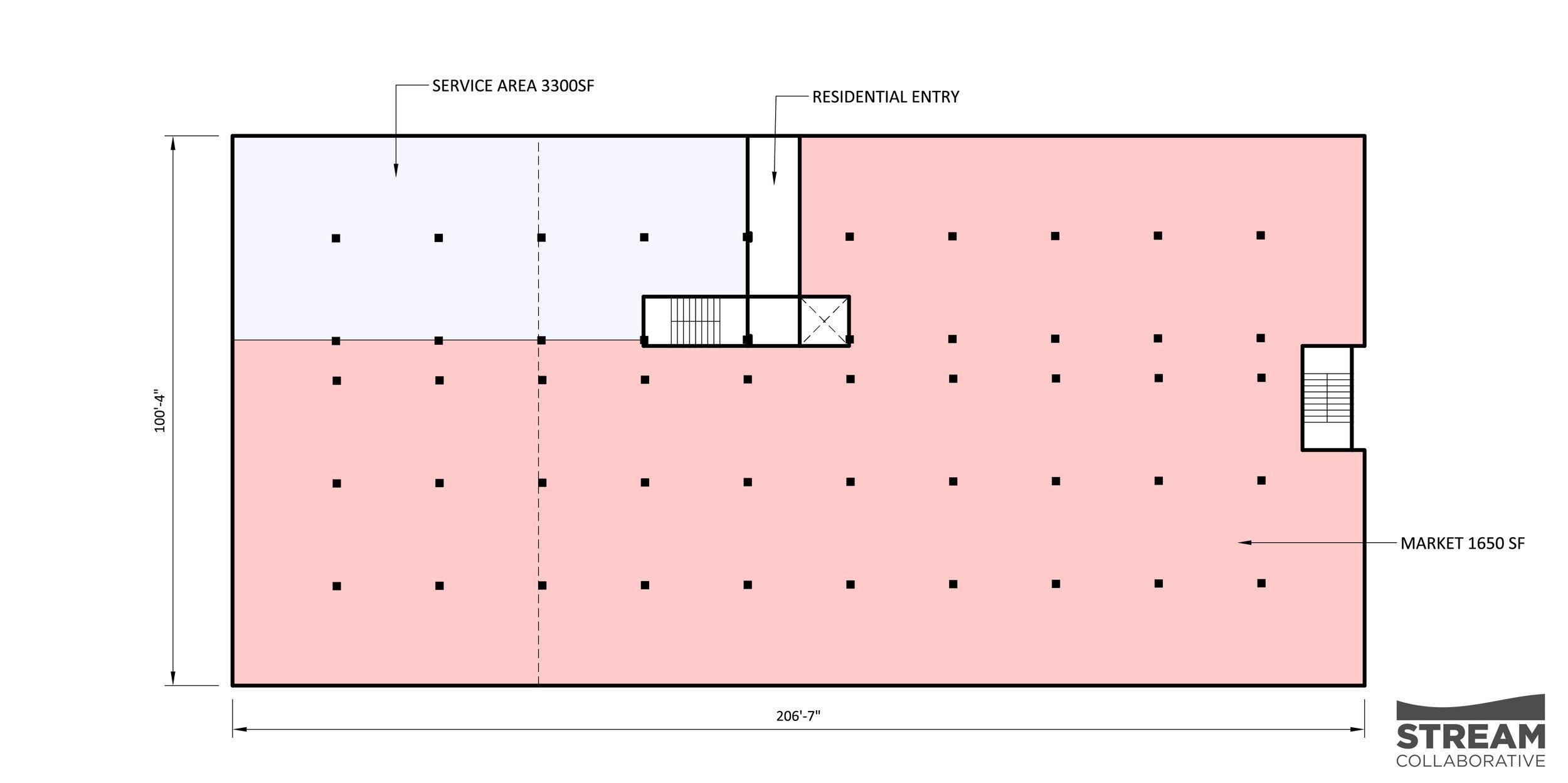 GROUND FLOOR PLAN: MARKET/RETAIL SPACES
