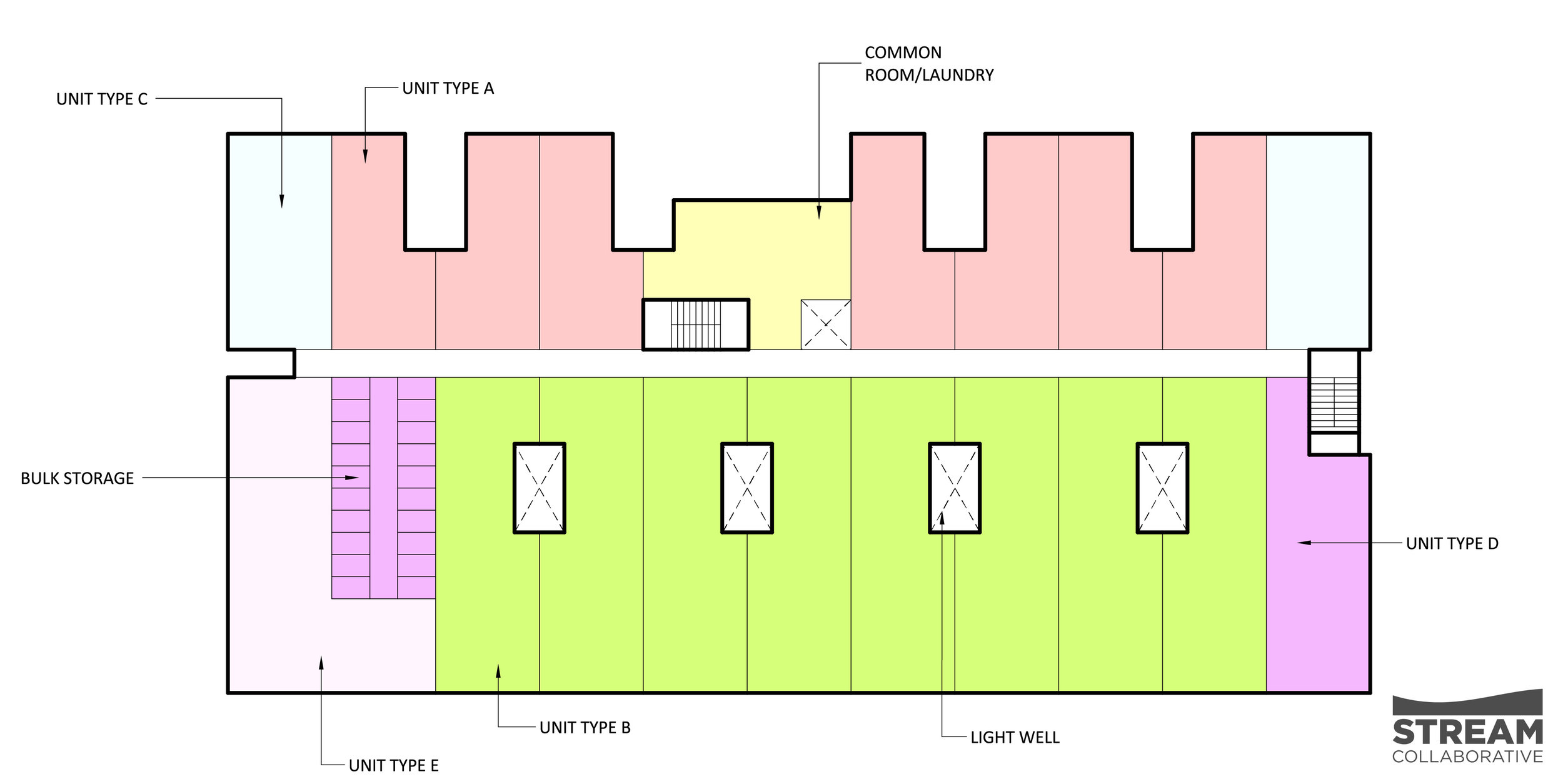 FLOORS 3 THROUGH 5 PLAN