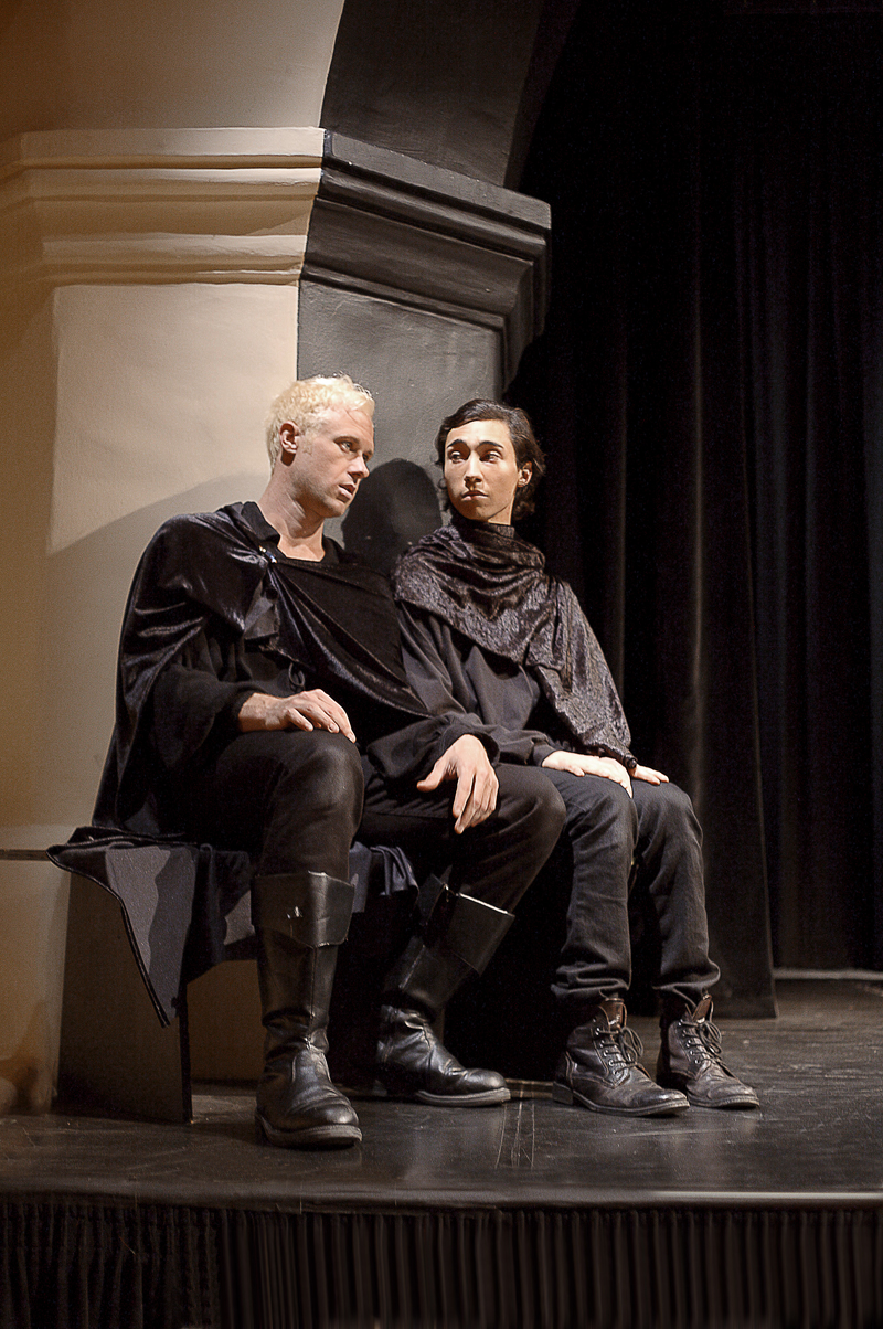 Trey McCurley and  Christopher Aguilla - Hamlet and Horatio discuss Ghosts, girls, and Guildenstern.jpg