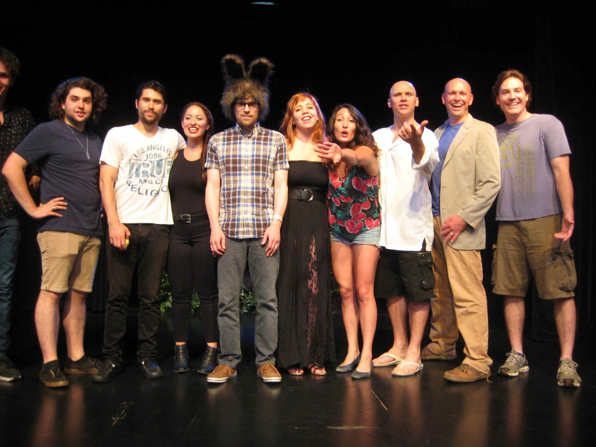 THE CAST OF MIDSUMMER NIGHT'S DREAM WITH RIVERS CUOMO