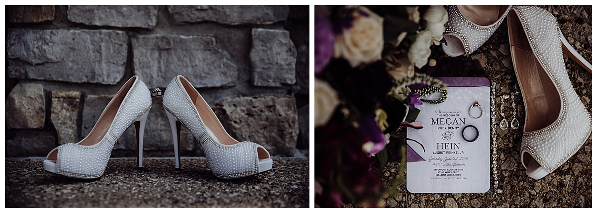 wedding details, shoes, ring shots, bouquet