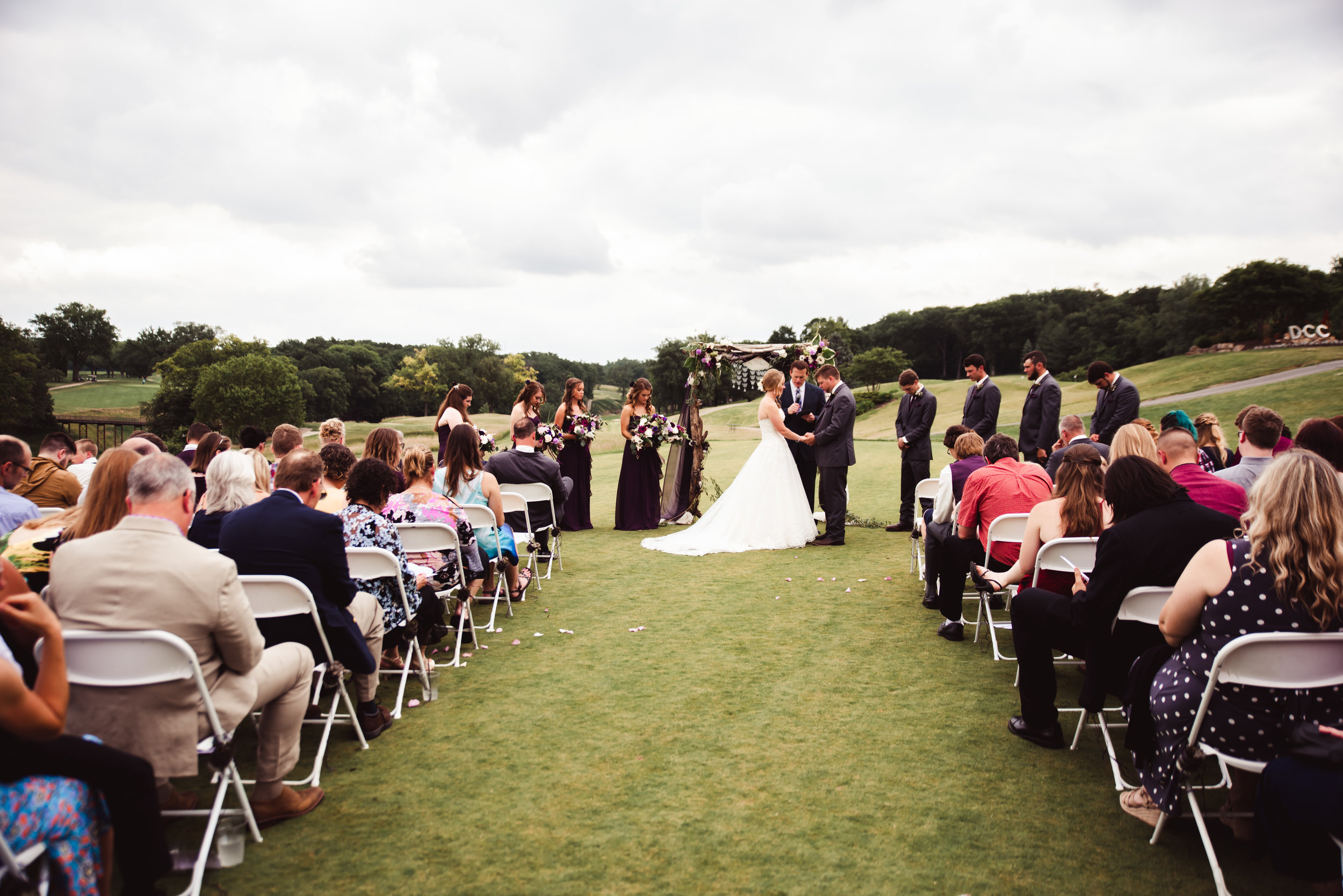 wedding ceremony at the davenport country club