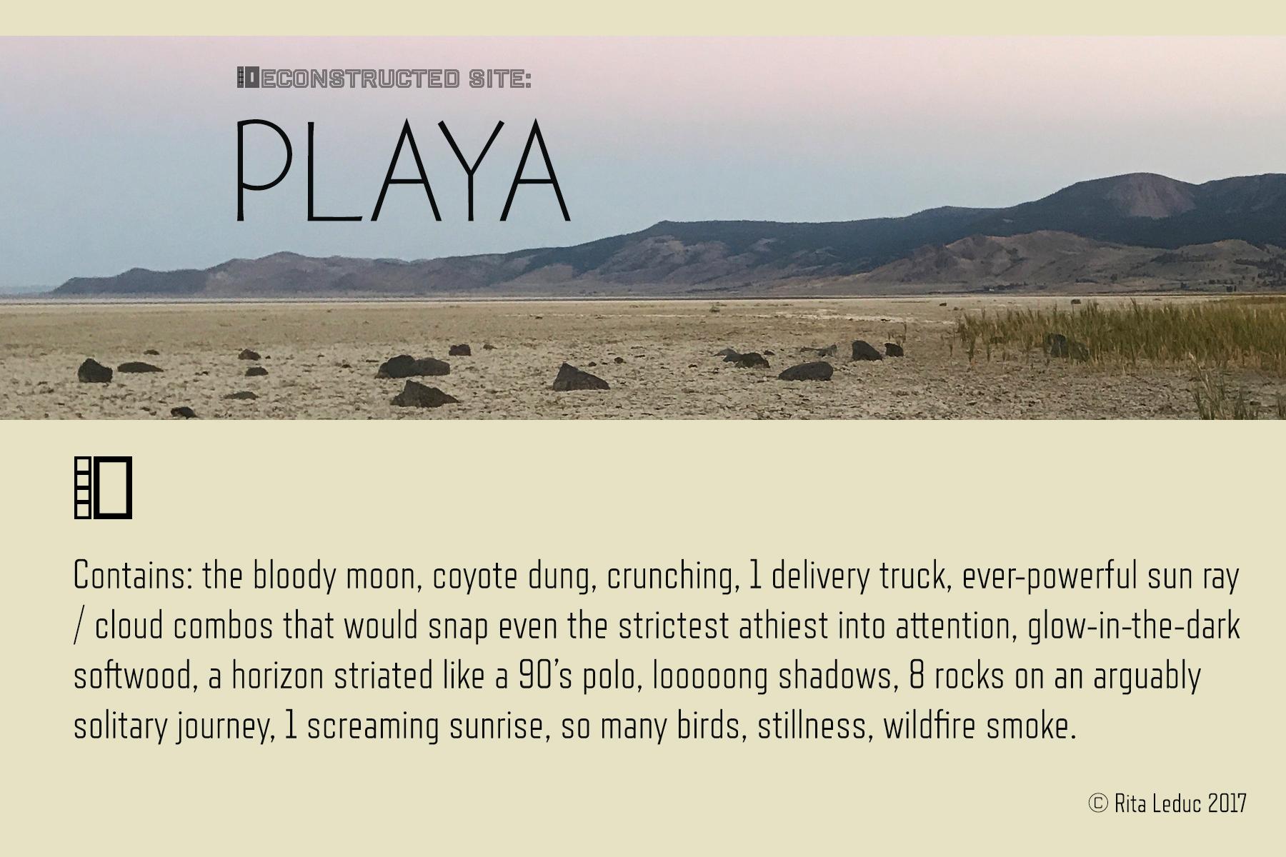 PLAYA: Deconstructed Site