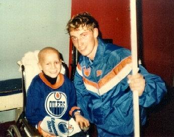Dreams Do Come True - Pictured: Dream Kid #1 Jamie meeting his hockey hero, Wayne Gretzky! (1983)