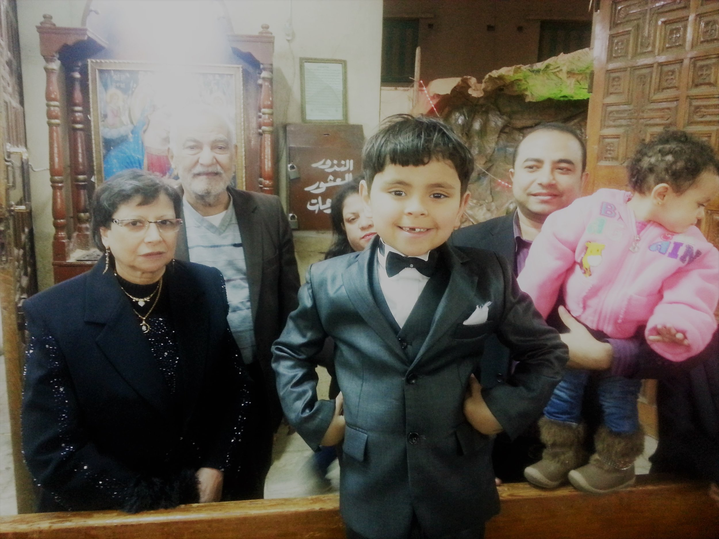 Pictured : Dream Kid  Tony  has always spoken with his grandparents over Skype. His dream was to travel to Egypt so that he could give them a hug in person. It was the trip of a lifetime for Tony and his family!