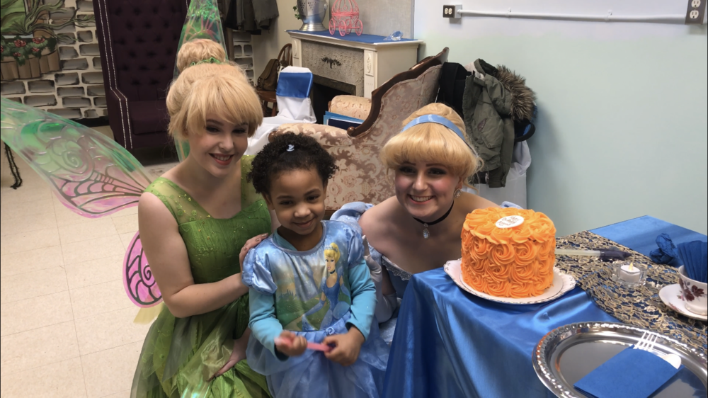 Pictured : Dream Kid  Azariah  enjoyed the PERFECT send-off for her Dream Trip at this very special  princess tea party.