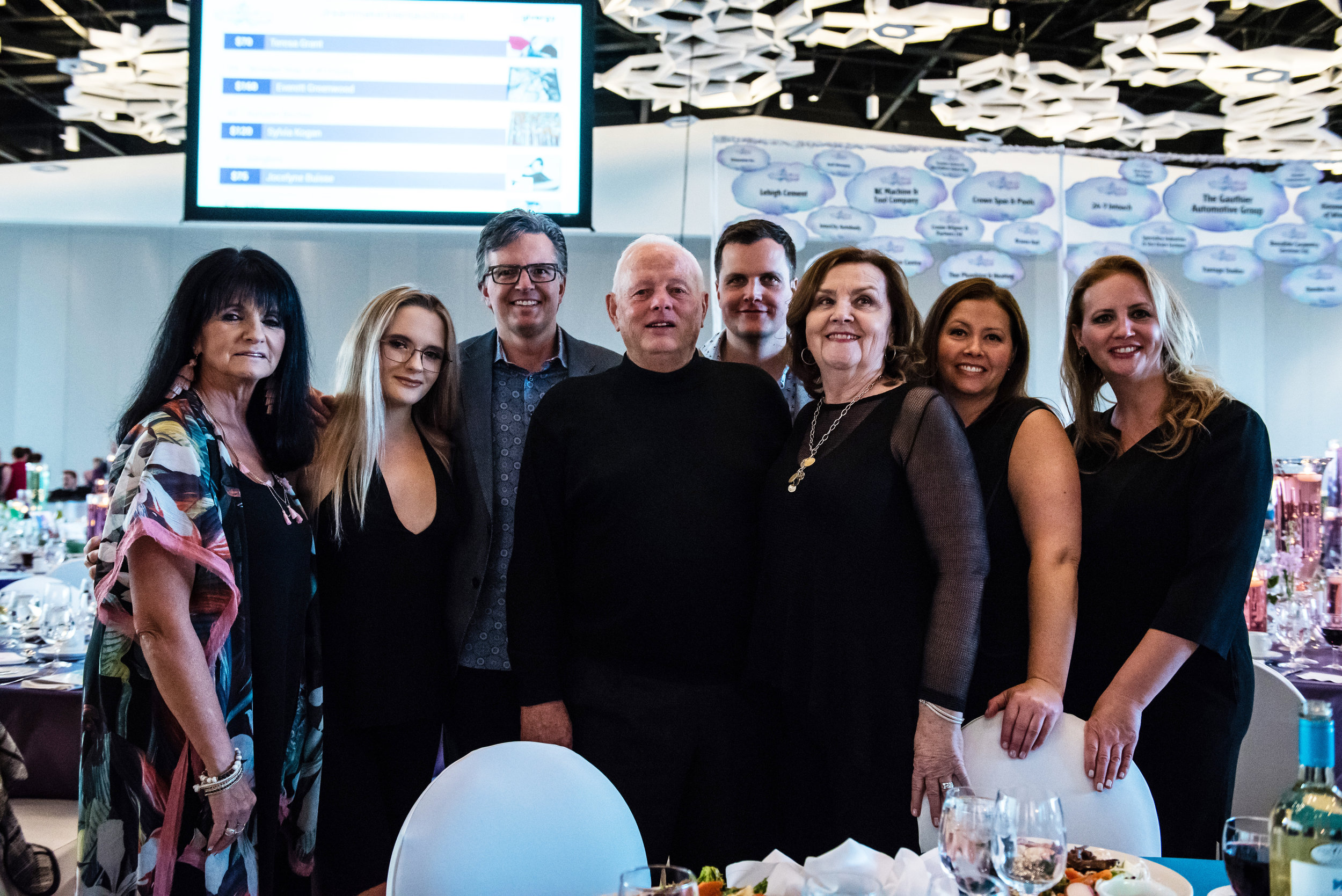 Pictured:  The Kines Family at the 2018 Dream Maker Auction