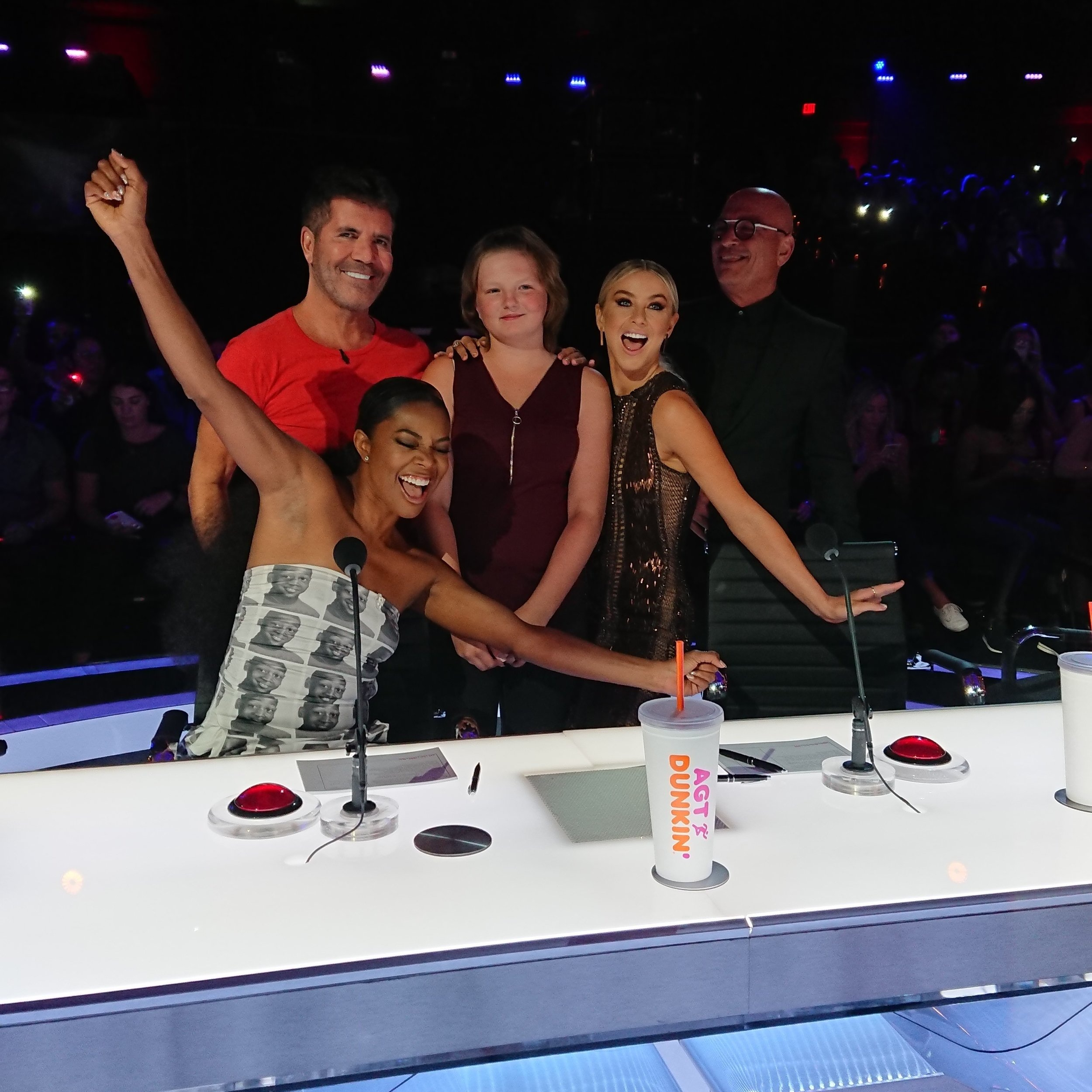 Pictured:  Dream Kid  Kylie  has her dream to meet the judges from  America's Got Talent  come true!