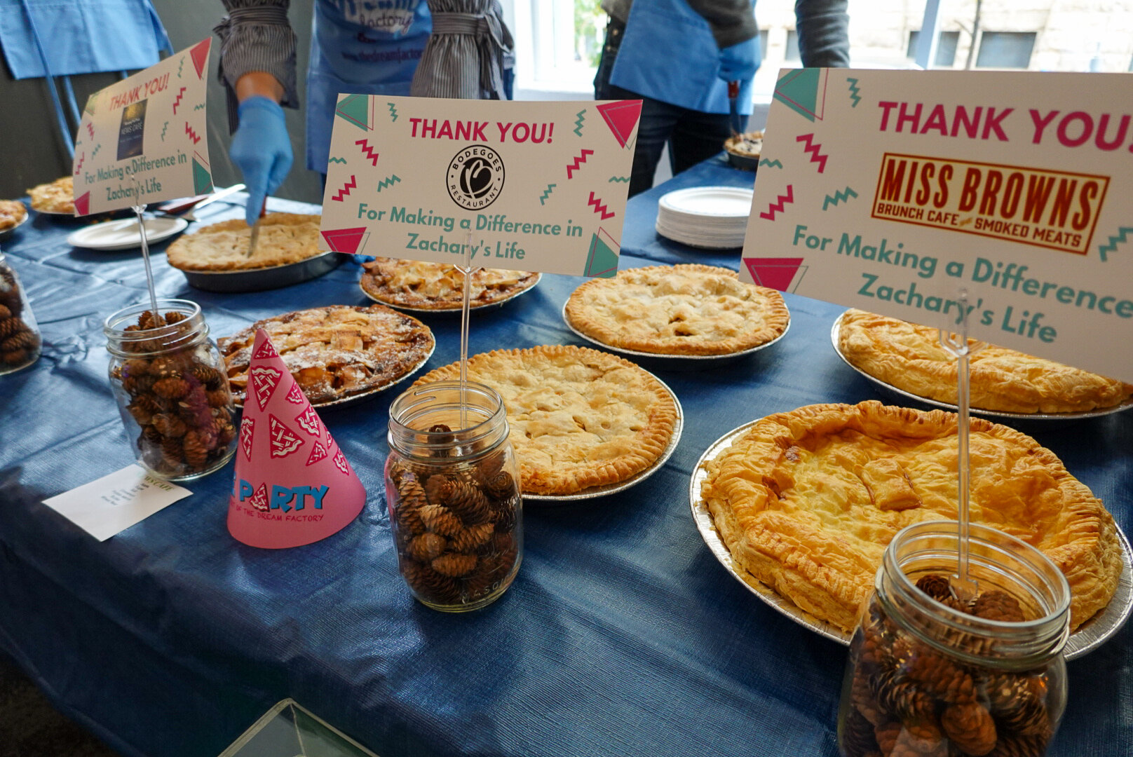 Pictured:  A sample of some of the incredible looking (and tasting!) pies from the first annual  Pie Party!