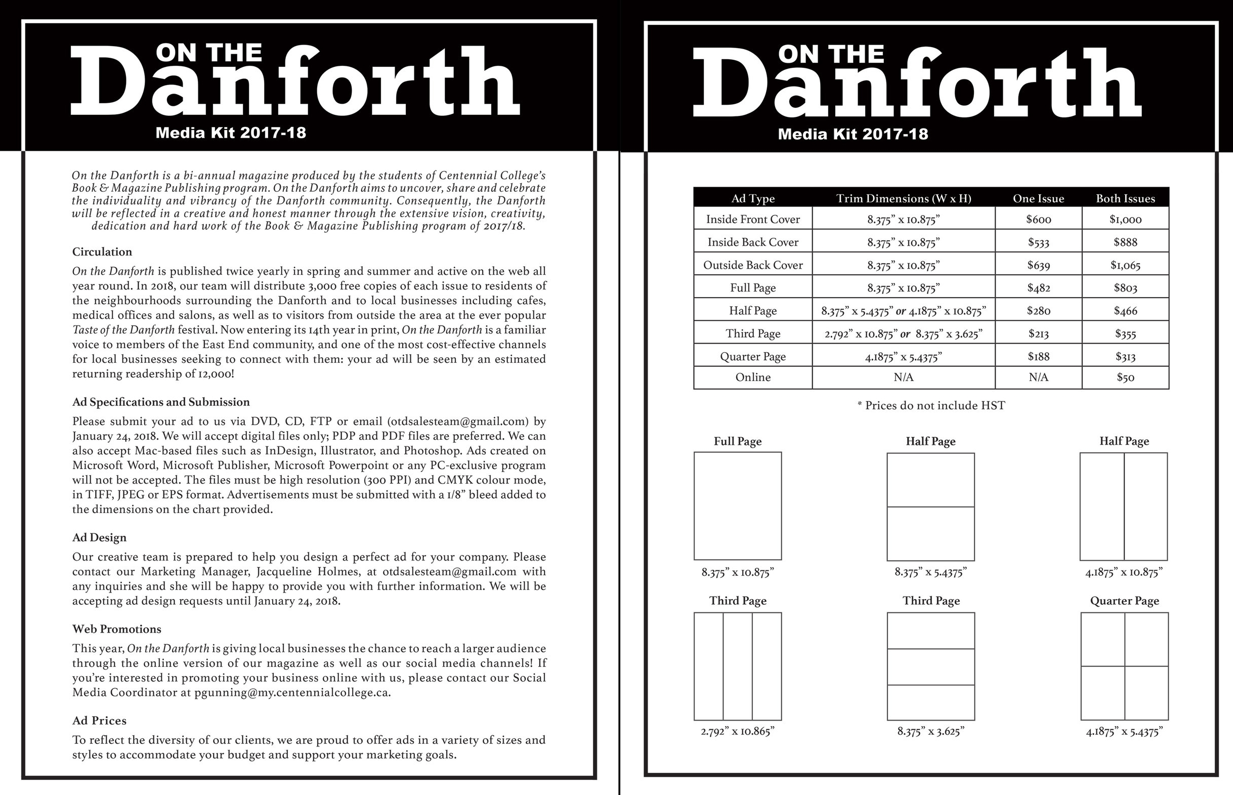 Media Kit: On the Danforth