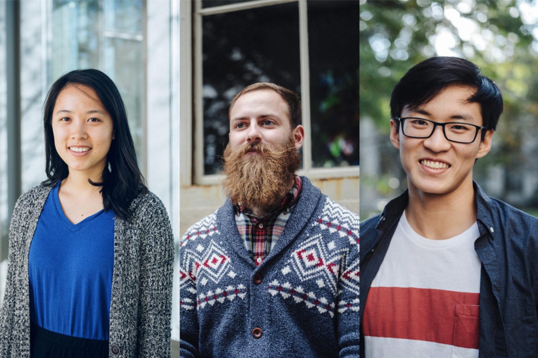 2018 Marshall Scholars from left to right: Olivia Zhao, Nick Schwartz, Liang Zhou.  –MIT News.