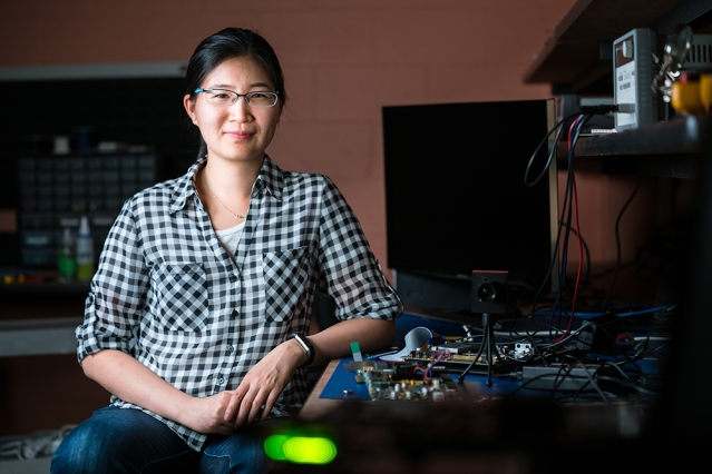 Vivienne Sze is an associate professor of electrical engineering and computer science and a principal investigator in the Research Laboratory of Electronics.  Photo: Lillie Paquette/School of Engineering