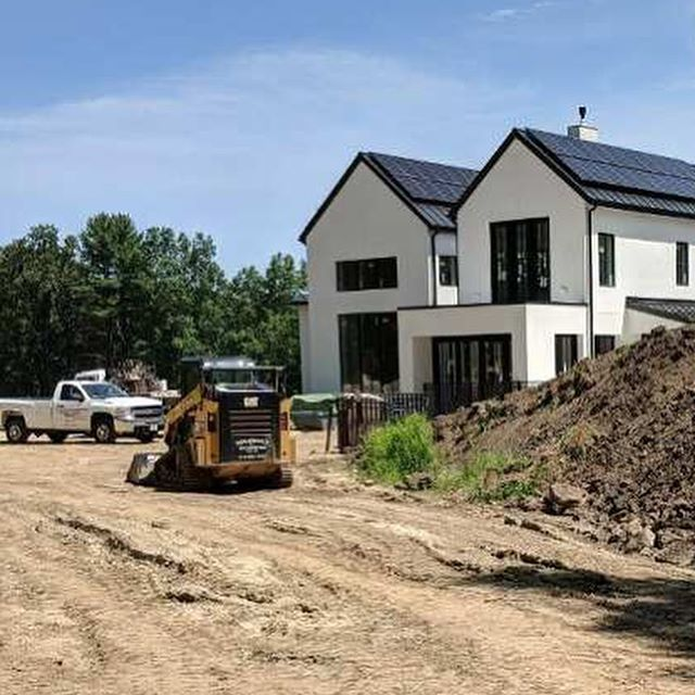 Pool's in and grading is underway! This beautiful custom home is nearing the finish line...