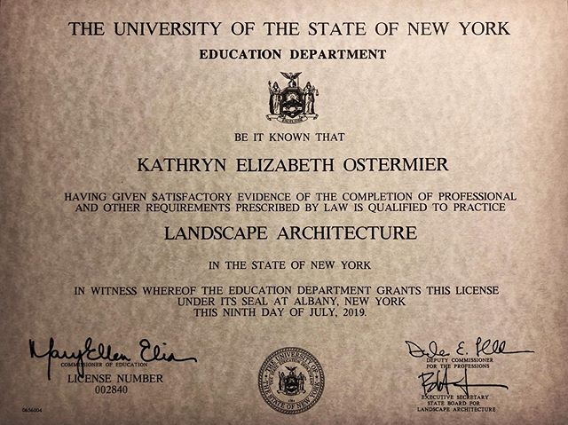 New licensure! Who knew that the great state of #NewYork still issued parchment?!