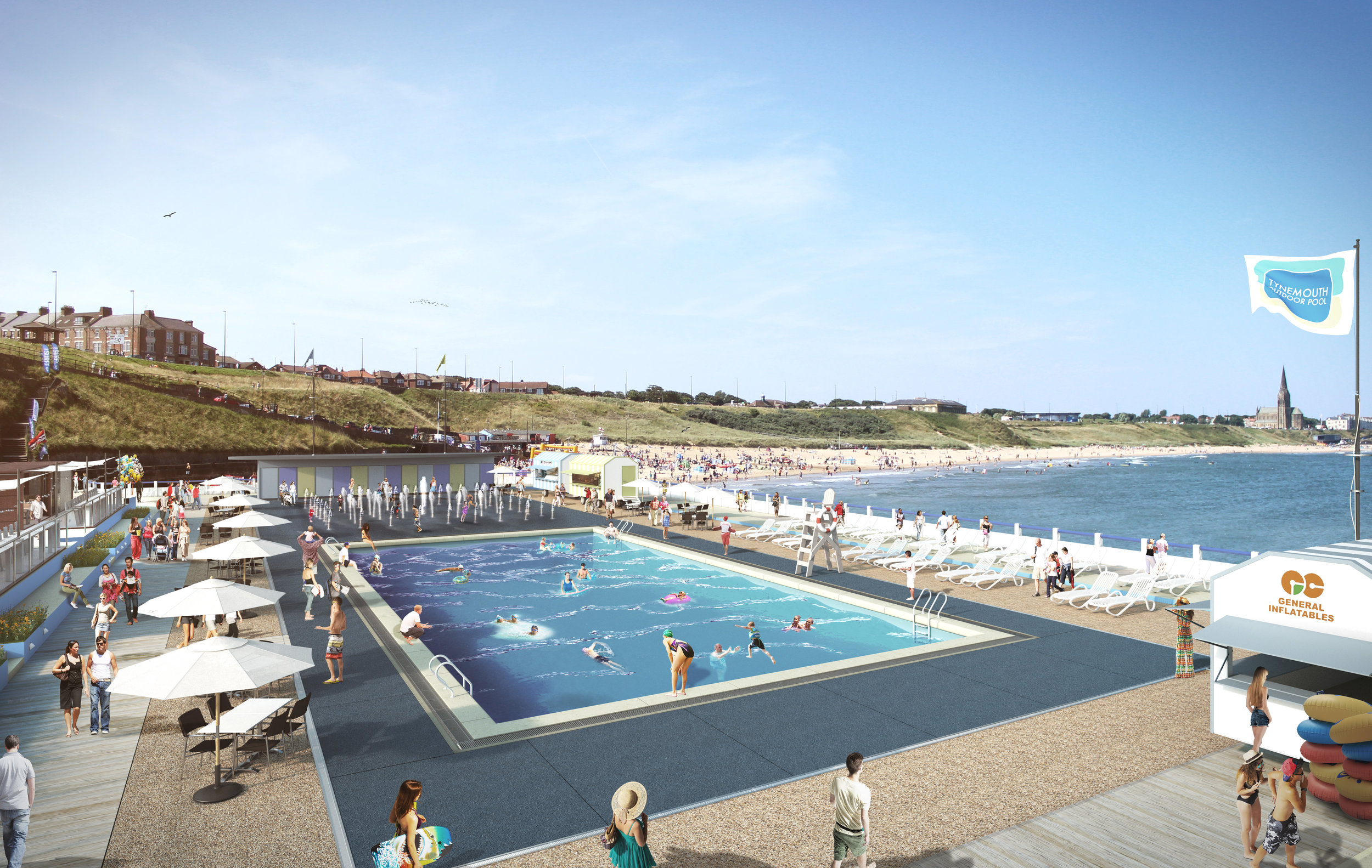 A visualisation of the outdoor pool that The Friends of Tynemouth Outdoor Pool are hoping to create.