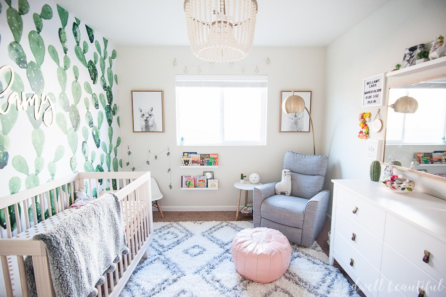 An Organic Cactus And Llama Baby Girl Nursery — Recipe For Motherhood