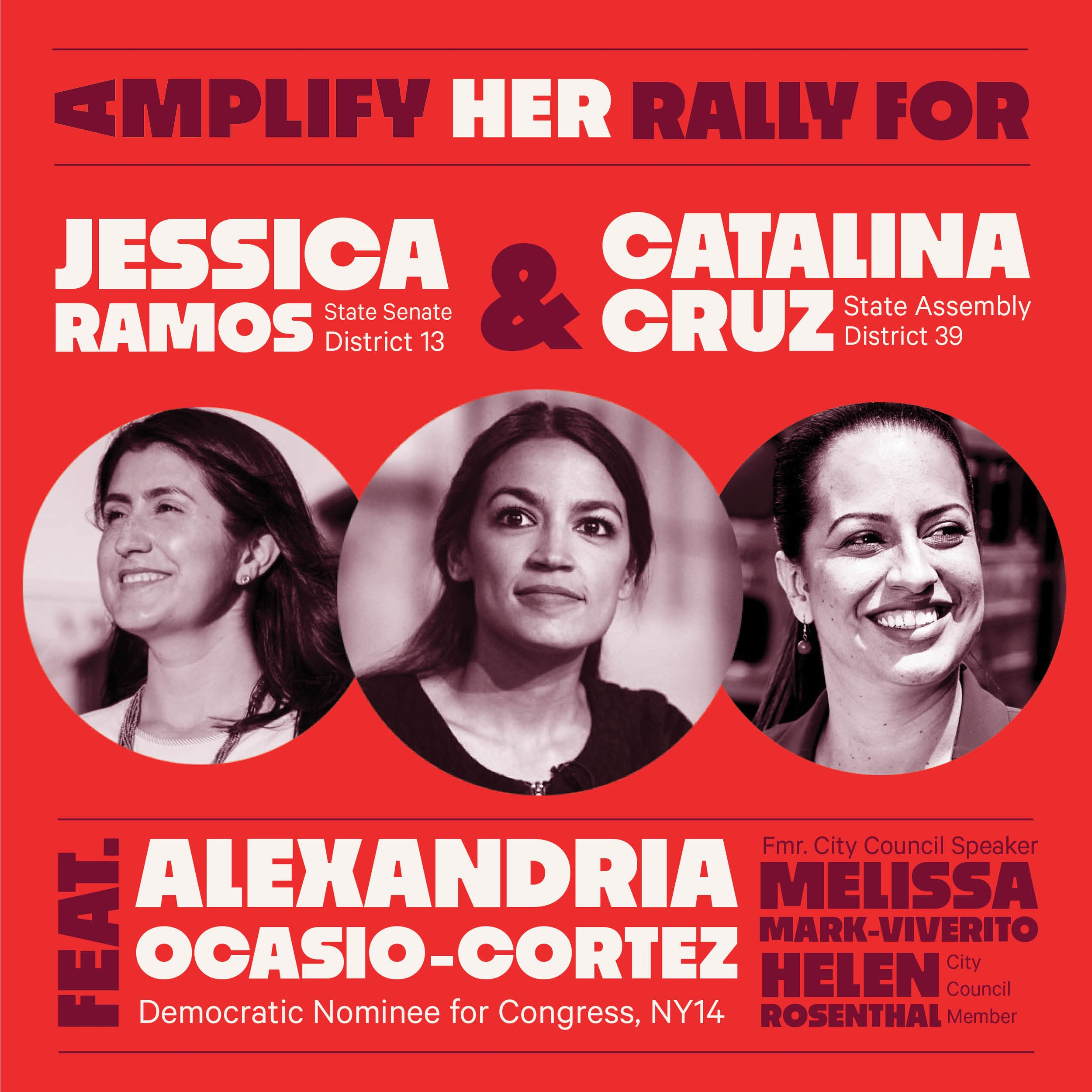 AMPLIFY HER RALLY 9/8/18 (QUEENS)
