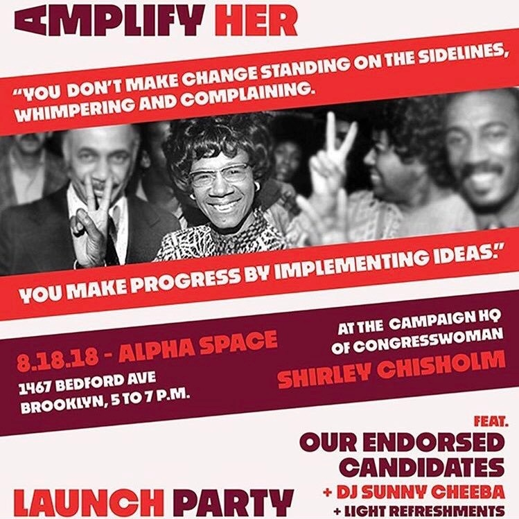 AMPLIFY HER LAUNCH 8/18/18 (BROOKLYN)