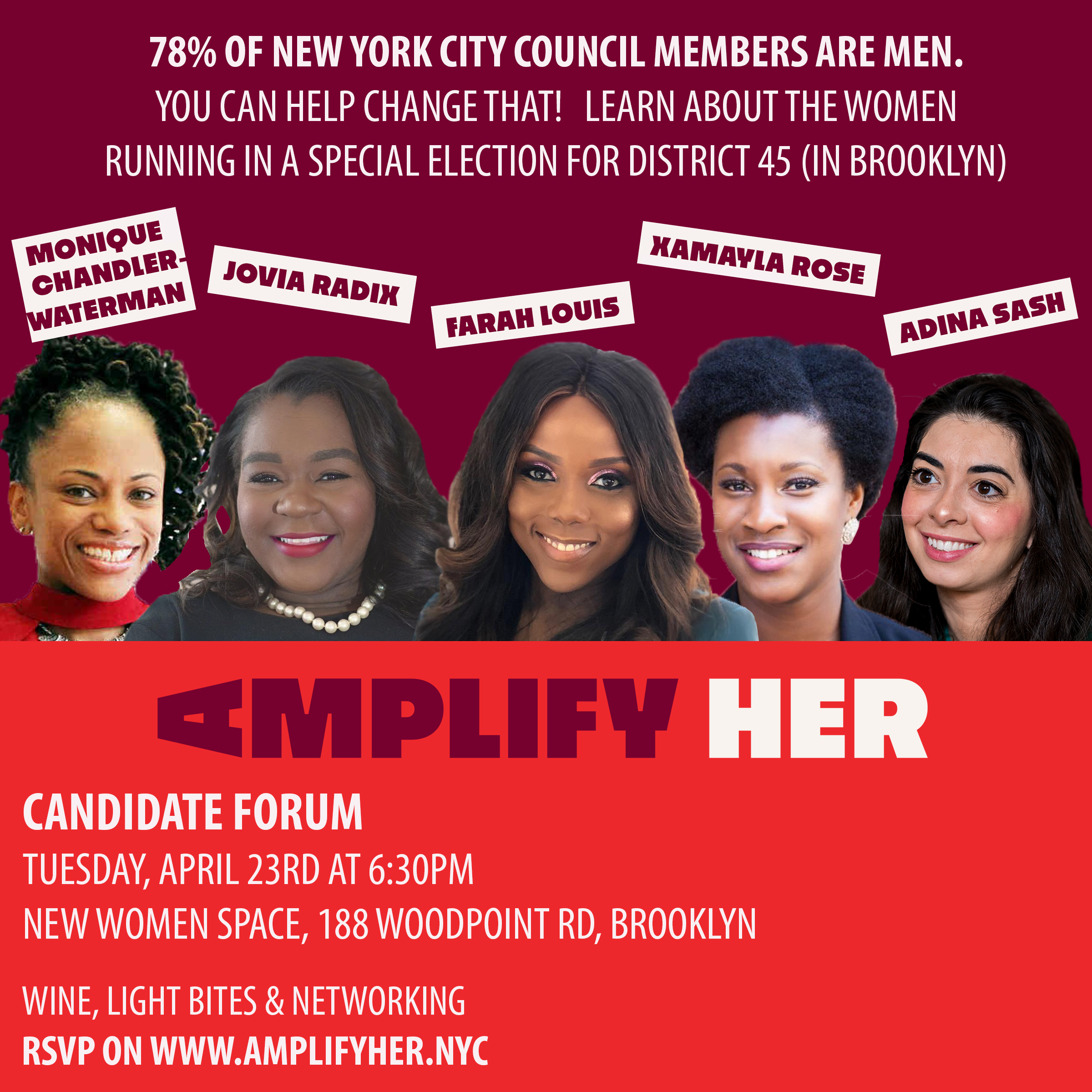 AMPLIFY HER CITY COUNCIL FORUM 4/23/19 (BROOKLYN)