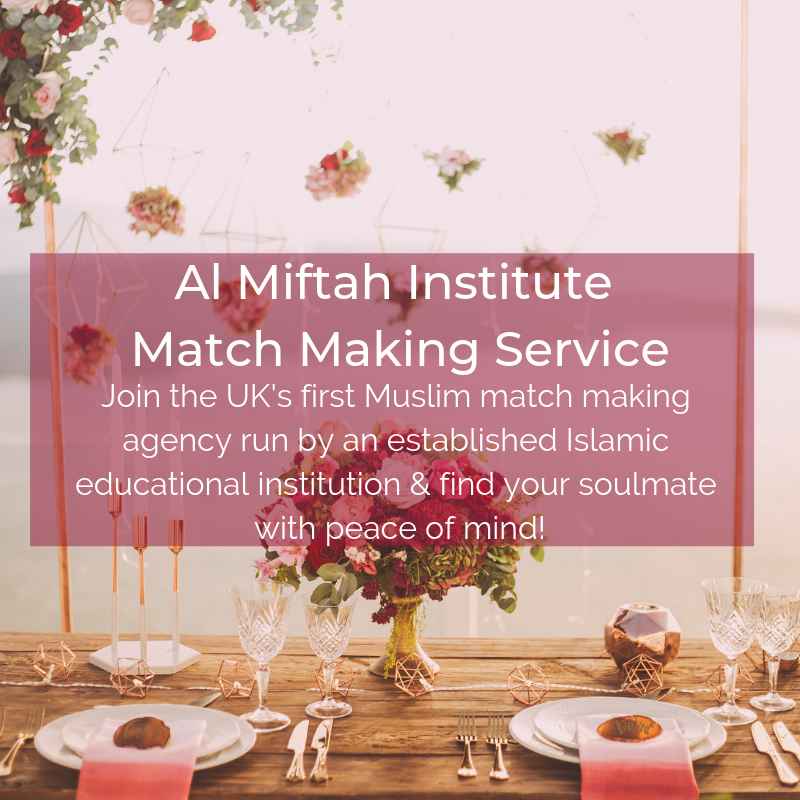 As the UK's only Muslim match making agency by a non-profit organisation, rest assured that our professional team are dedicated to helping you find your soulmate for the sake of Allah SWT alone. (1).png
