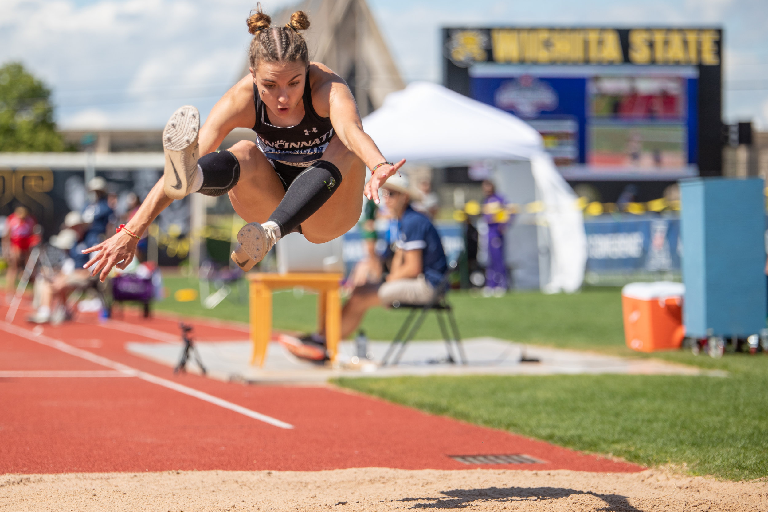 The American Athletic Conference is hosted at Wichita State University. The following photos were taken on the third day of the meet, May 12, 2019. Photos taken for ECU Athletics. Photos are copyrighted by Joseph Barringhaus and should not be distributed or used without prior written consent.