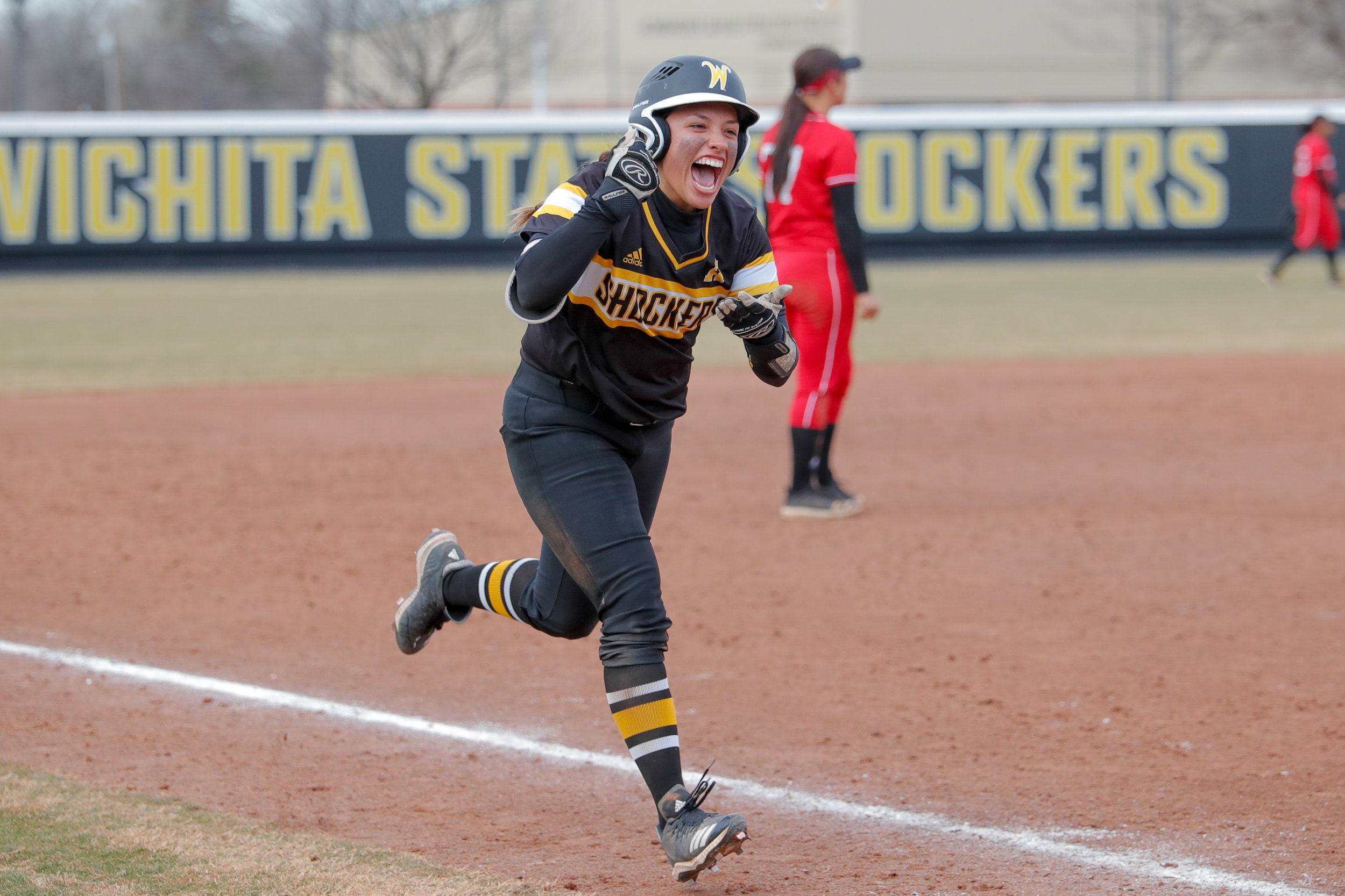 Wichita State softball beat Nebraska in their second game of the day 7-5 on March 10, 2019 at Wilkins Stadium. Photos taken for GoShockers.