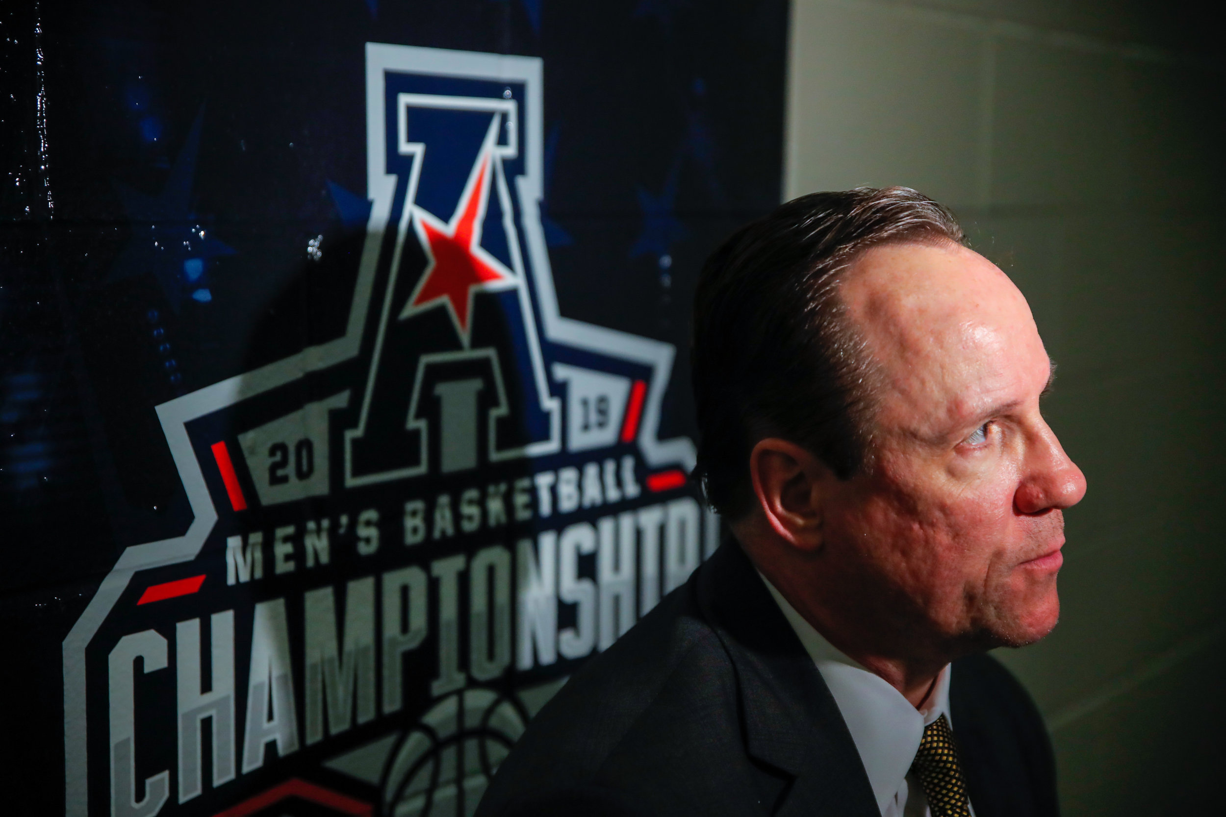 Wichita State coach Gregg Marshall speaks with  media after the game against Temple on March 15, 2019 at the FedExForum in Memphis, Tennessee. (Photo by Joseph Barringhaus/The Sunflower).
