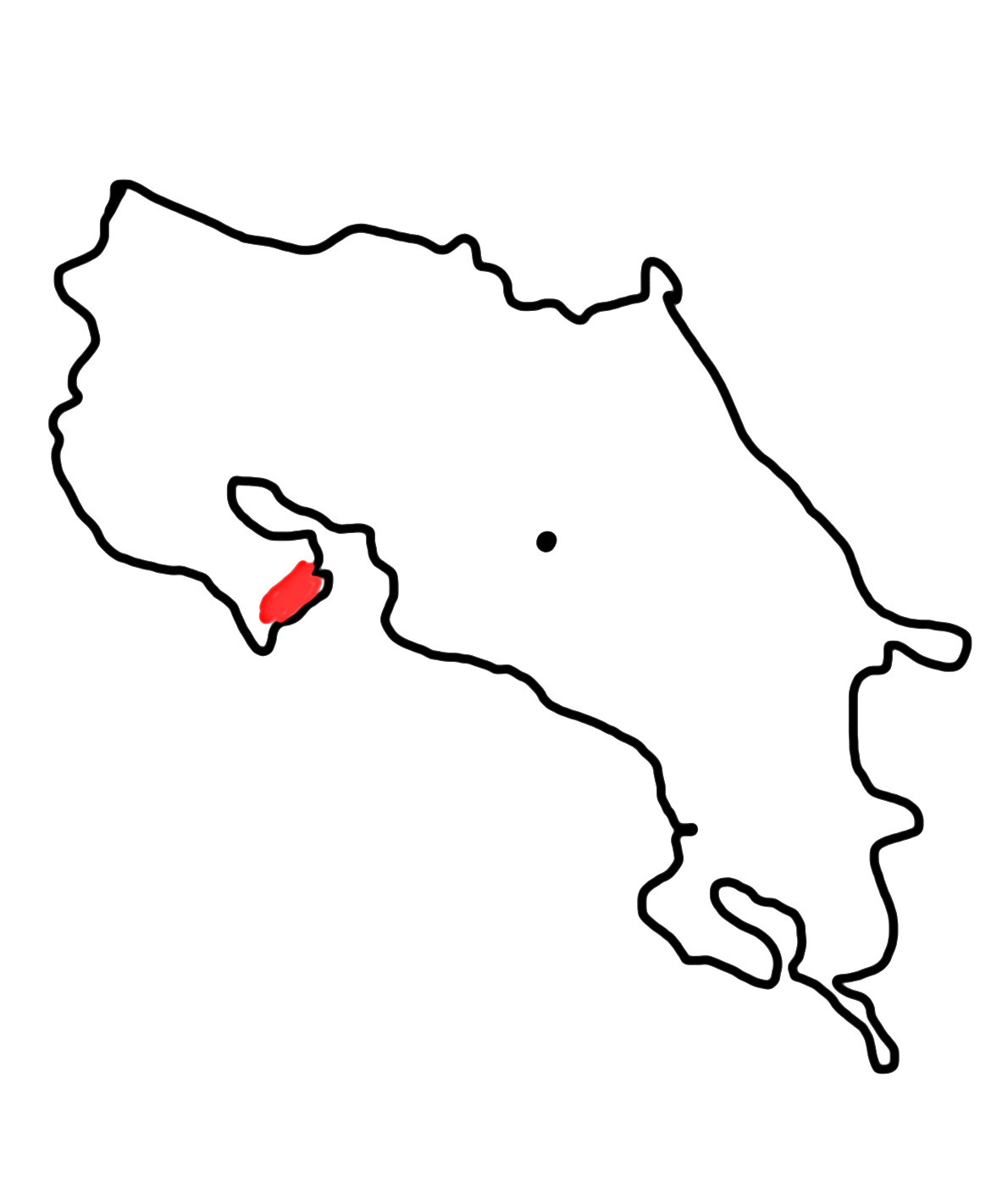Central Pacific - Half Island Nicoya - In the South