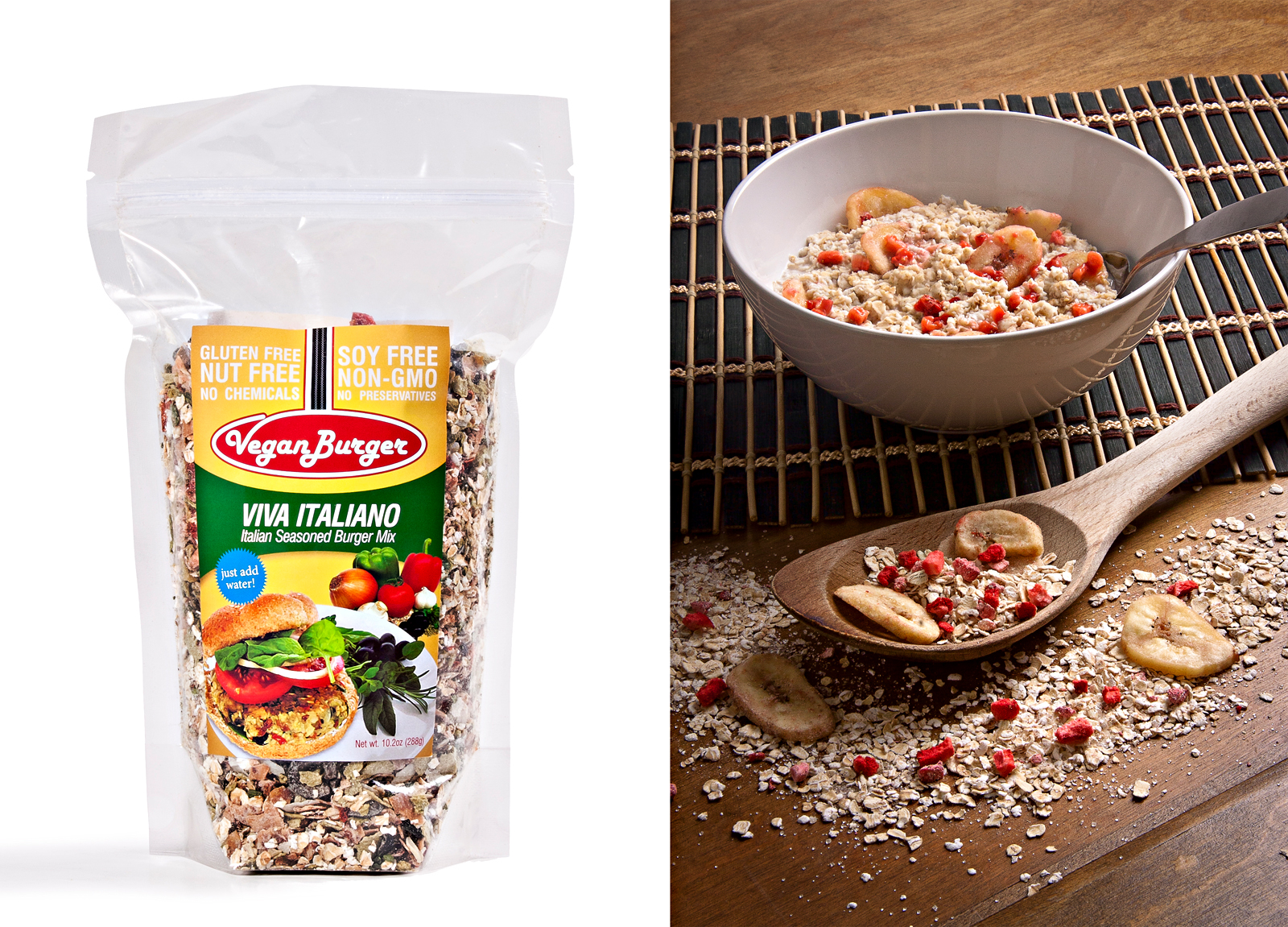 Catalog and styled images for Kester Foods.