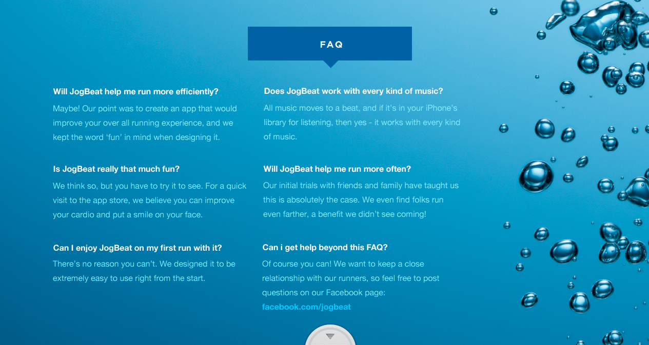 I encouraged the client to include an FAQ so users would understand the value proposition.