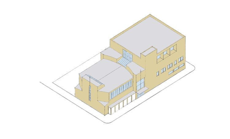 Bronx - We are excited to announce that out team have completed a schematic plan for a new 56,000sf church facility in the Bronx. The corner site includes an atrium entrance, a sanctuary for 640, a fellowship hall, a full-size indoor basketball court, a food pantry, classrooms, offices, underground parking and a garden. The design is a re-interpretation of a traditional church, which is counterpoised against a separate community center.