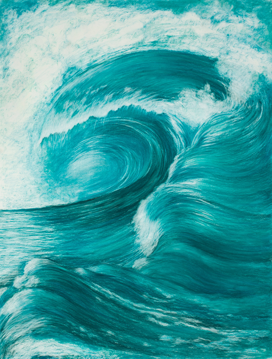 "Aquatic Energy #1 Pastel, 38"" X 50"""