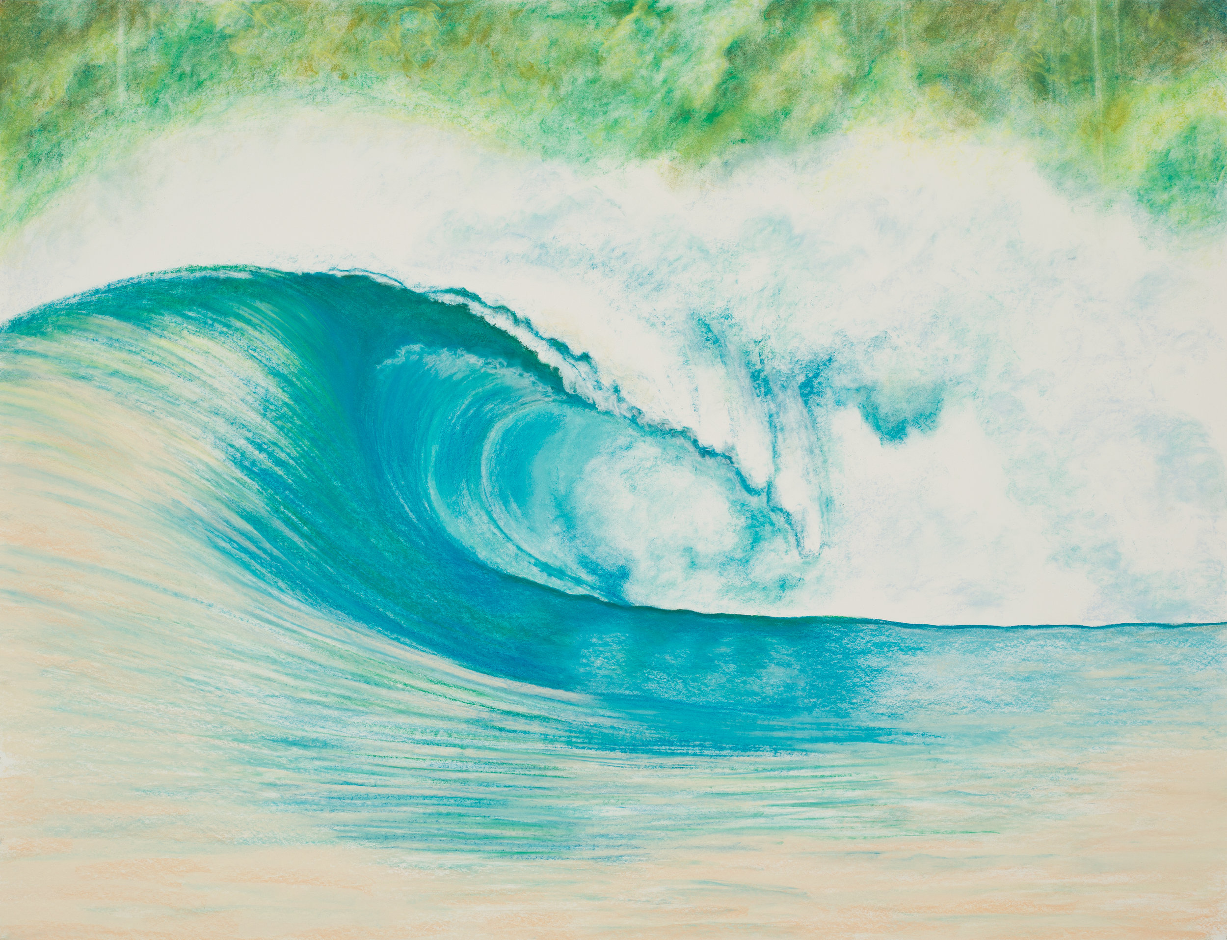 "Aquatic Energy #7 Pastel, 38"" X 50"""
