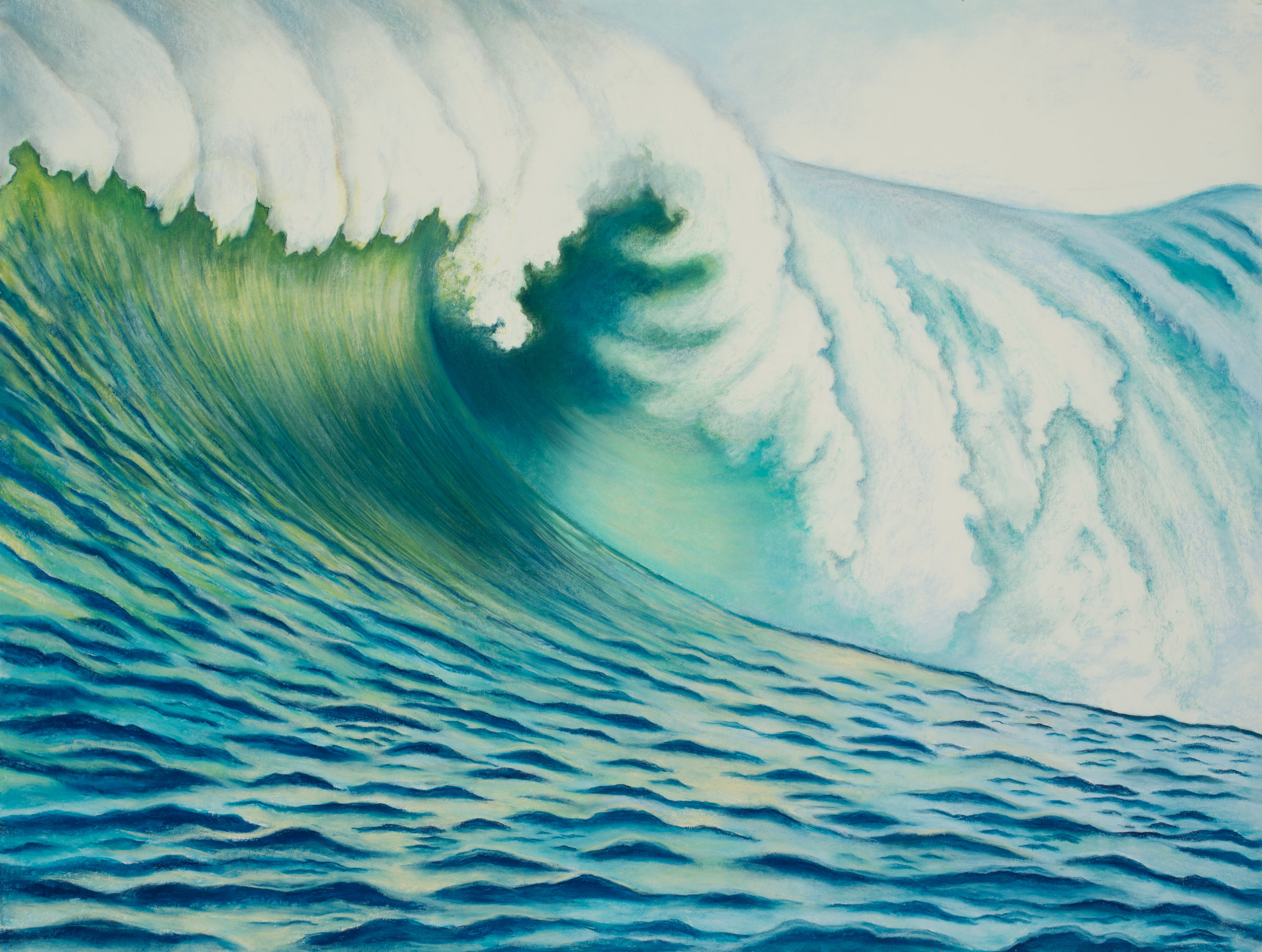 "Aquatic Energy #10 Pastel, 38"" X 50"""