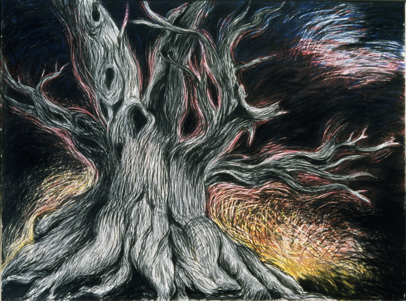 Secret Spot Pastel and charcoal on paper, 80 x 108 inches
