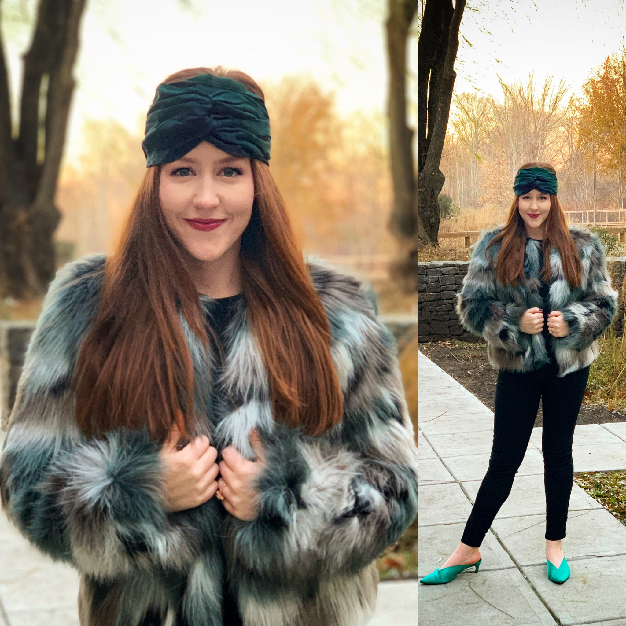 Coat: TJ Maxx, similar    here    and    here     Headband: Target (out of stock), similar    here     Shoes: Topshop (out of stock), similar    here