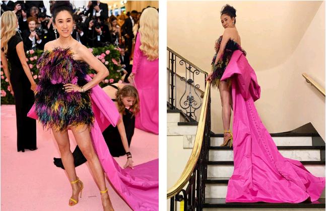 Photo credits:  PopSugar  (left) &  Eva Chen  (right)
