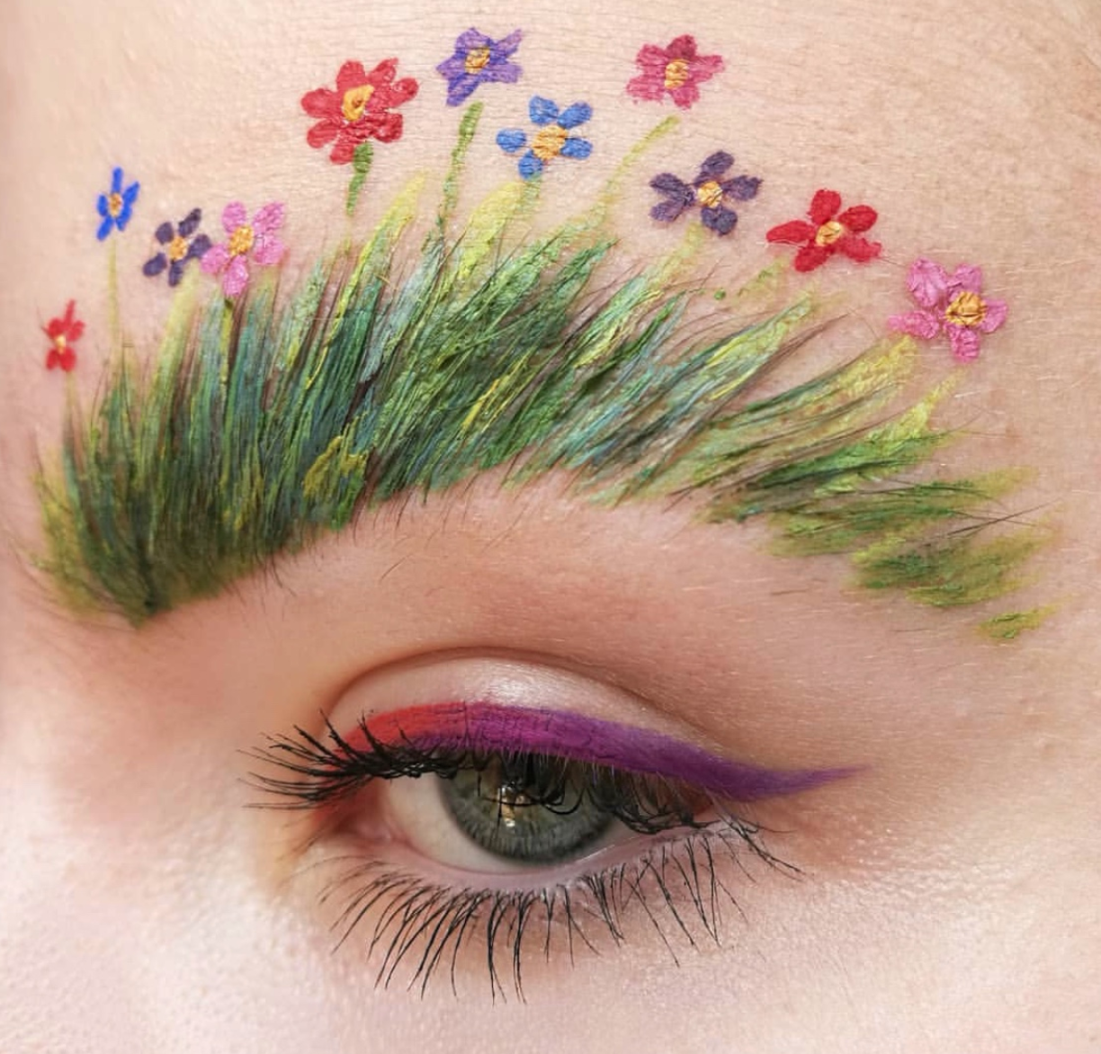 Festival brows by @krabowinka -
