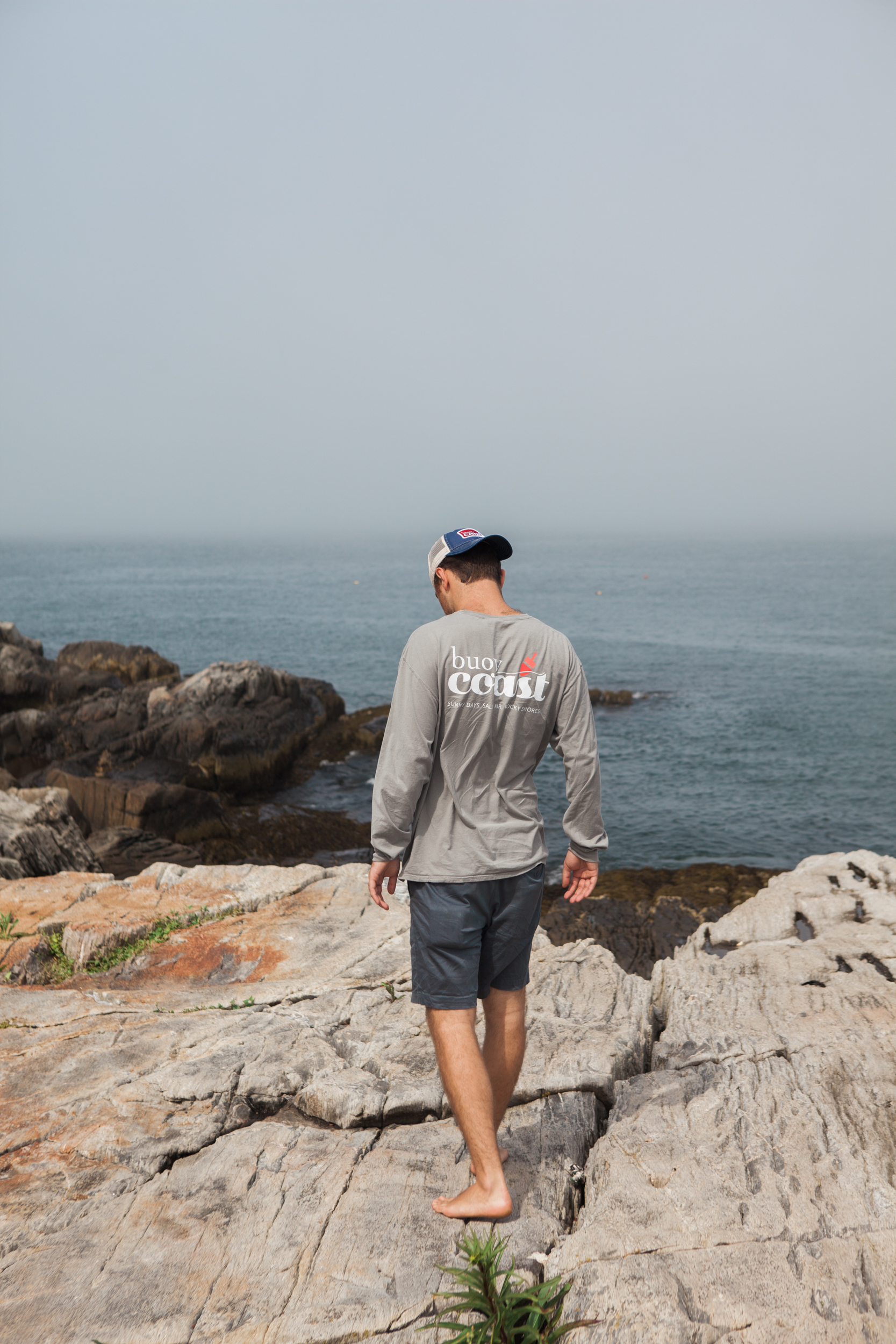 Long-sleeve t-shirt. Maine apparel. Maine lifestyle. Maine living. Maine made.
